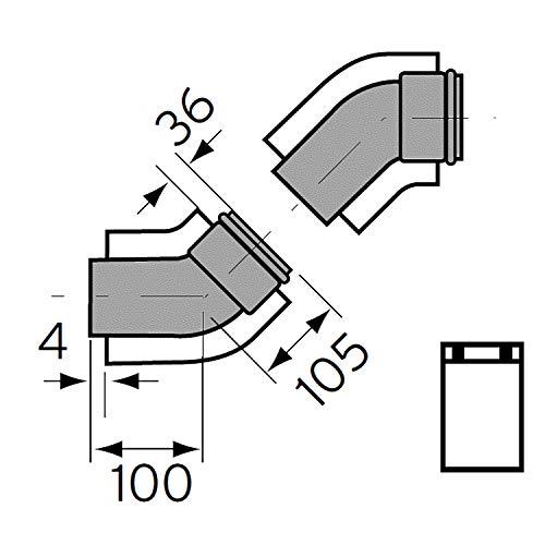 Vaillant 0020209569 Kit Curve 45' Diametro 60/100 Turbomag, Bianco