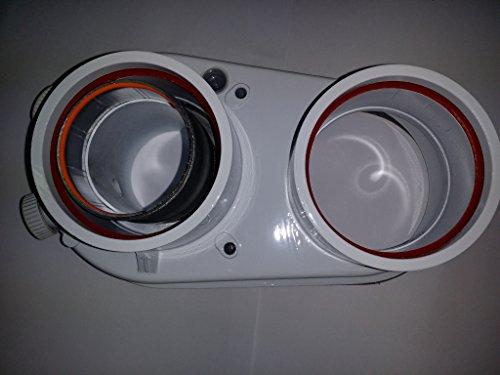 Vaillant 303847 Kit Sdoppiatore, Diametro 80/80 per Turbomag, Bianco