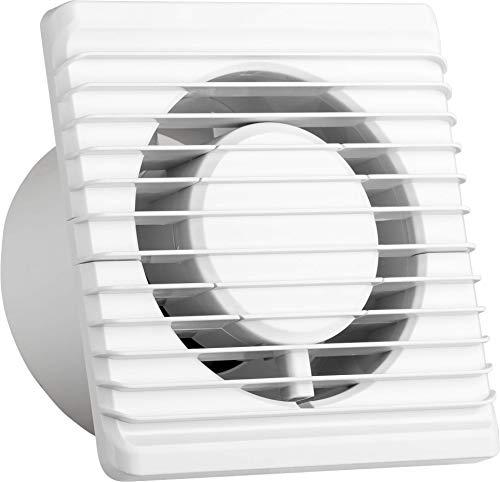 Ventilatore universale con valvola antiritorno Ø 100 mm/10 cm per bagno e cucina, basso consumo energetico 8 W, funzionamento silenzioso 26 dB e alta efficienza 93 m3/h. Standard. Systerm Energy
