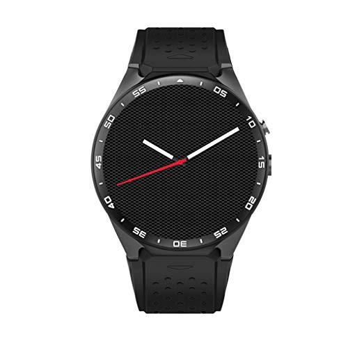 VERYNNA Orologio Intelligente Smart Watch Quad Core Smartwatch Telefono 3G SIM App Monitoraggio della frequenza cardiaca GPS Orologi, Nero