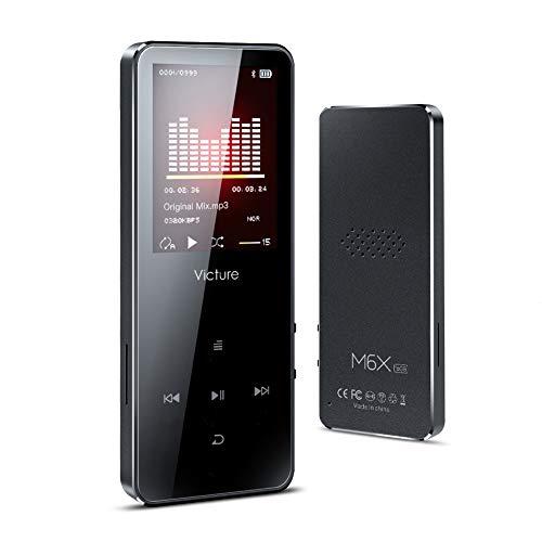 Victure Lettore MP3 16GB Bluetooth 4.1 Pulsante di Tocco, Lettore Musicale Digitale, Bracciale Sportivo, Altoparlante Incorporato, Radio FM, qualità HiFi, Supporta Fino a 64GB