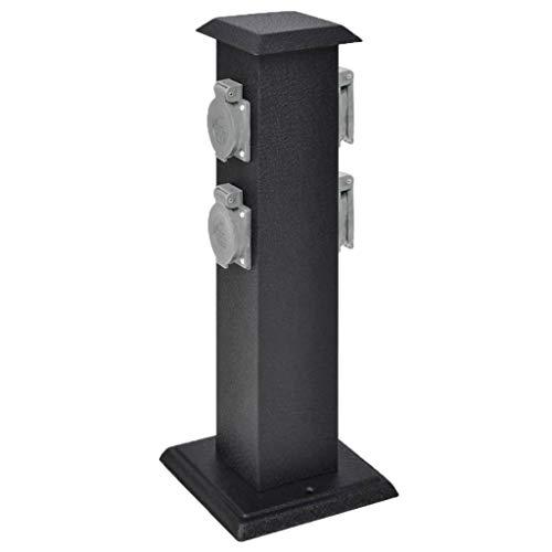 vidaXL Presa Elettrica da Giardino con Pilastro Alimentatore Corrente Esterno