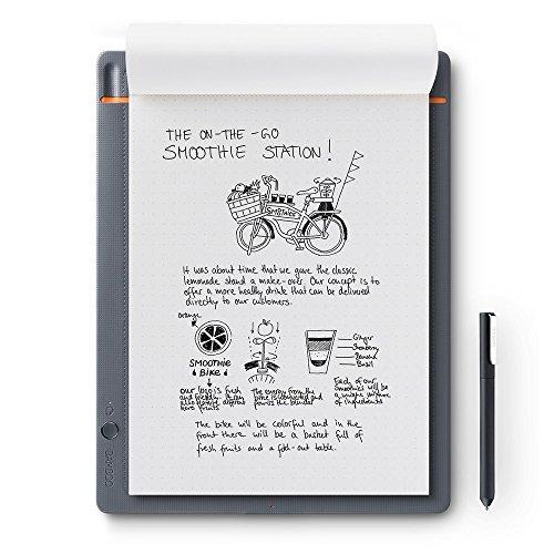 WACOM Bamboo Slate A4 Smartpad / Digitalizzatore di Appunti e Disegni su Carta, Grigio Chiaro / Compatibile con Smartphone e Tablet Android, iOS e Windows