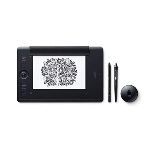 Wacom Intuos Pro Medium Paper Edition Tavoletta Grafica con penna sensibile alla pressione / Funzione digitalizzazione per disegno su carta / kit wireless incluso / Per Mac e PC / Nero