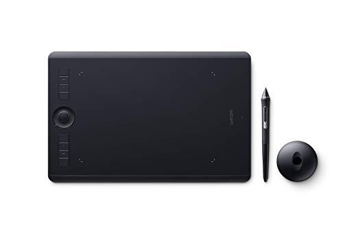 Wacom Intuos Pro Medium Tavoletta Grafica con penna sensibile alla pressione / Tasti di comando personalizzabili / kit wireless incluso / Per Mac e PC Windows / Nero