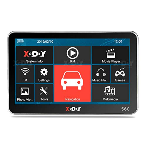 Xgody 560 - Navigatore satellitare GPS per auto , 12,7 cm, 8 GB SpeedCam Roadmate