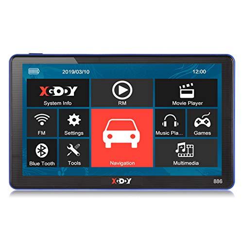 Xgody 886Bluetooth Truck sistema di navigazione GPS per auto touchscreen capacitivo 17,8cm 8GB ROM navigatore satellitare con mappe a vita Spoken Turn-by-Turn direzioni
