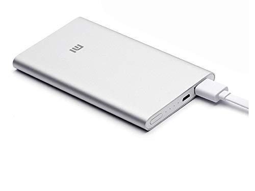 Xiaomi Mi Power Bank 2 - Caricabatterie portatile, 5000mAh, Argento, 12.5 x 6.9 x 9 cm