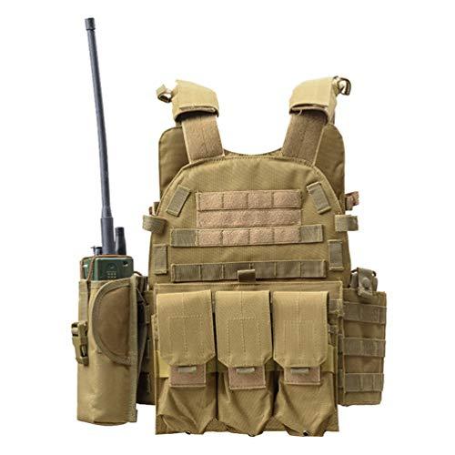 Xinwcang Traspirante Maglia per Tattico Militare Esercito Airsoft Gilet da Caccia Tactical Vest per all'Aperto Campeggio Escursionismo Come Immagine One Size