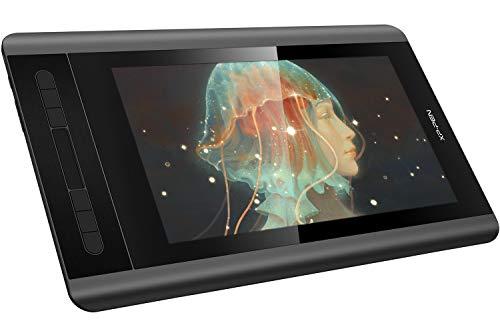 XP-PEN Artist 12 Tavoletta Grafica con Schermo HD 11,6 Pollici Monitor con Pennino Passivo 8192 Livelli di Pressione + Porta Penne Multifunzione + Guanto per Tablet (Artist 12 Standard, Nero)