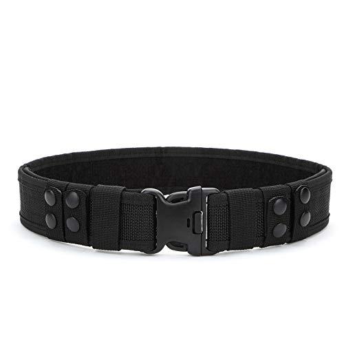 YAHILL® Cintura di Sicurezza, Lotta Cintura, Regolabile, Resistente, Polizia Attrezzature o per Sport all' Aria Aperta (Nero-Promossa)