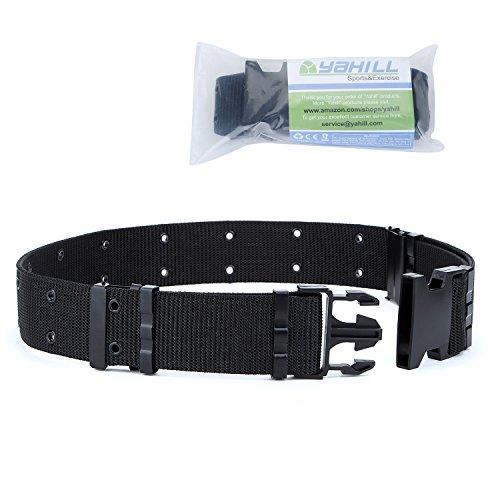 YAHILL® Cintura Regolabile Tattica di Sicurezza, Cintura Resistente di Salvataggio per Sport e Caccia all'Aria Aperta(Nero)