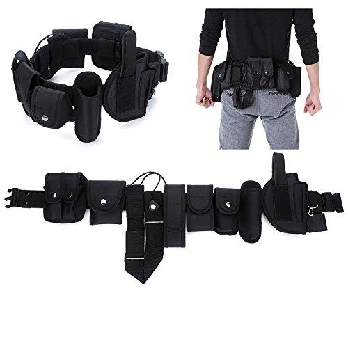 YAHILL® Cintura Tattica di Utilità Attrezzi della Polizia o di Applicazione della Legge di Sicurezza Attrezzatura da Combattimento in Nylon Resistente o Custodia per Manette (Nero)