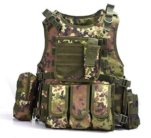 Yakeda, gilet tattico, militare, per adulti, 322, 322, Italy Camouflage