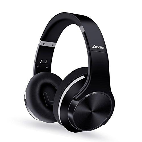 ZoeeTree H1 Cuffie Bluetooth, CSR HiFi Audio Stereo Headset, Cancellazione del Rumore Avanzate Headphones Wireless Pieghevole, Tempo di Riproduzione di 30 ore, Compatibili con Cell Phone/ TV/ PC (Nero)
