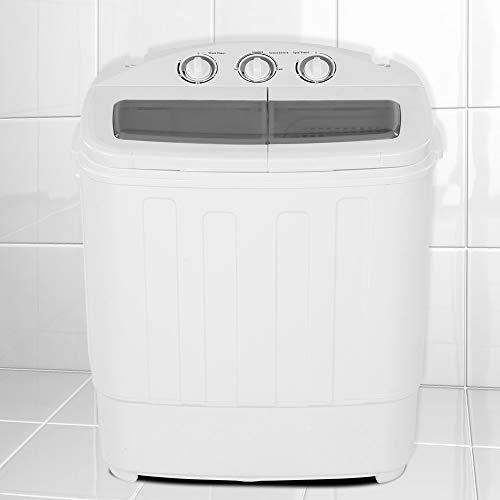 Zoternen Mini Lavatrice 2 in 1 Lavatrice da Campeggio Lavatrice Portatile con Timer e asciugatrice, Salvaspazio e Compatta, Caricamento dall'alto, Ideale per casa e dormitorio, capacità 11 lb