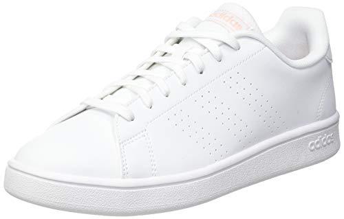 adidas Advantage Base, Scarpe da Tennis Donna, Ftwr White/Glow Pink/Core Black, 38 2/3 EU
