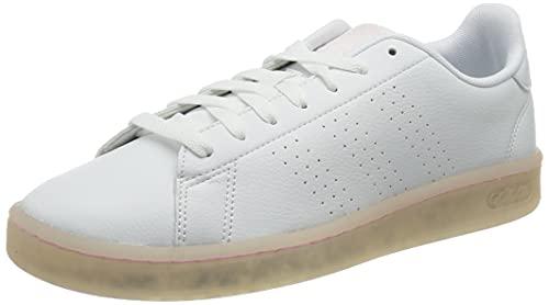adidas Advantage, Scarpe da Tennis Donna, Bianco, Rosa (Ftwbla Ftwbla Roscla), 40 EU