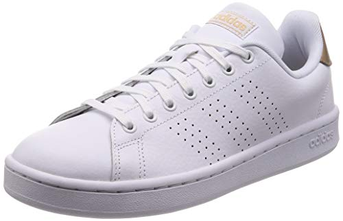 adidas Advantage Sh, Scarpe da Ginnastica Donna, Bianco (Cloud White/Cloud White/Copper Metalic), 36 EU