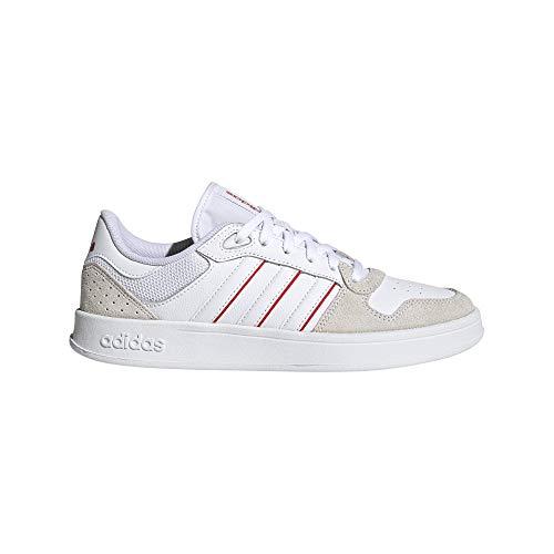 adidas BREAKNET Plus, Scarpe da Tennis Donna, Bianco, Rosso (Ftwbla Ftwbla Rojint), 40 EU