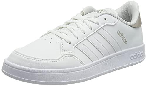 adidas BREAKNET, Scarpe da Tennis Donna, Ftwbla/Ftwbla/METCHA, 42 2/3 EU
