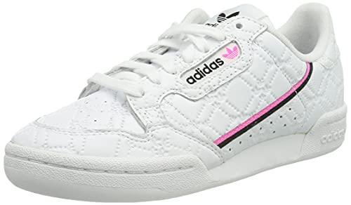 adidas Continental 80 W, Scarpe da Ginnastica Donna, Crystal White/Screaming Pink/Core Black, 38 2/3 EU