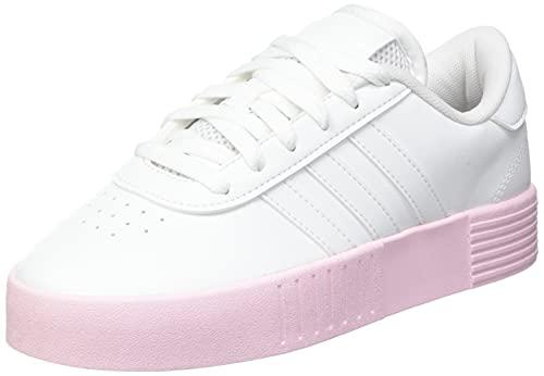 adidas Court Bold, Scarpe da Fitness Donna, Bianco, Rosa (Ftwbla Ftwbla Roscla), 36 EU