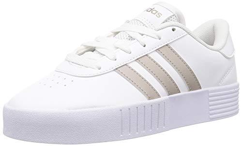 adidas Court Bold, Scarpe da Ginnastica Donna, Ftwr White/Platin Met./Ftwr White, 41 1/3 EU
