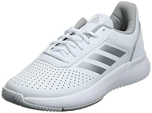 adidas COURTSMASH, Scarpe da Tennis Donna, Ftwr White/Matte Silver/Grey Two, 38 2/3 EU