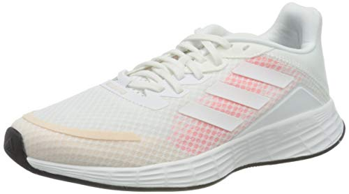 adidas Duramo SL, Scarpe da Corsa Donna, Ftwr White/Ftwr White/Signal Pink, 44 EU