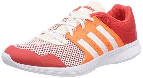 adidas Essential Fun II W, Scarpe da Fitness Donna, Rosso (Reacor/Ftwwht/Hireor), 38 2/3 EU