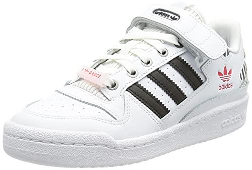 adidas Forum Low W, Scarpe da Ginnastica Donna, Ftwr White/Core Black/True Pink, 35.5 EU