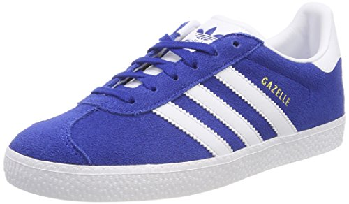adidas Gazelle J, Scarpe da Fitness Unisex-Adulto, Blu (Reauni/Ftwbla/Ftwbla 000), 38 2/3 EU