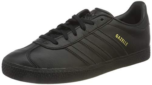 adidas Gazelle J, Scarpe da Ginnastica Basse Unisex-Bambini, Nero (Core Black/Core Black/Core Black), 36 EU