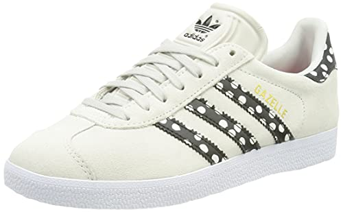 adidas Gazelle W, Scarpe da Ginnastica Donna, Grey One/Core Black/Gold Met, 37 1/3 EU
