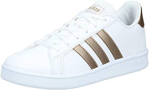 Adidas Grand Court K, Sneaker, Ftwwht Coppmt Glopnk, 35.5 EU