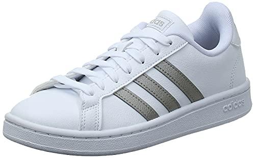 adidas Grand Court, Scarpe da Tennis Donna, Ftwr White/Platinum Met./Ftwr White, 40 2/3 EU