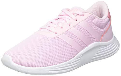 adidas Lite Racer 2.0 K, Scarpe da Corsa, Clear Pink/Clear Pink/Super Pop, 38 EU