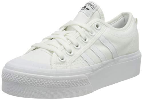 adidas Nizza Platform W, Scarpe da Ginnastica Donna, Ftwr White/Ftwr White/Ftwr White, 39 1/3 EU