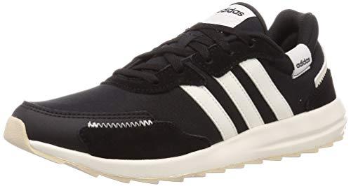adidas Retrorun, Scarpe da Corsa da Donna, Nero (Core Black/Cloud White/Alumina), 37 1/3 EU