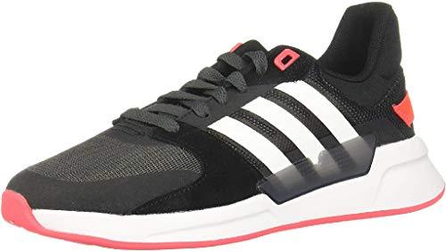 adidas Run90s, Scarpe da Corsa da Donna, Nero (Core Black/Ftwr White/Grey Six), 41 1/3 EU