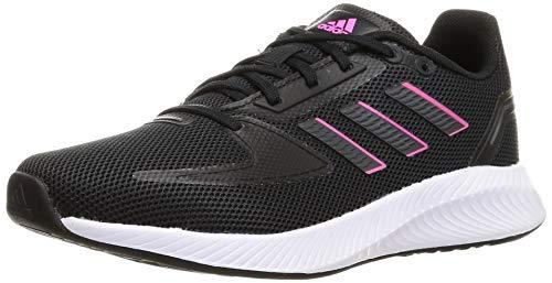 adidas RUNFALCON 2.0, Scarpe da Corsa Donna, Core Black/Grey Six/Screaming Pink, 37 1/3 EU