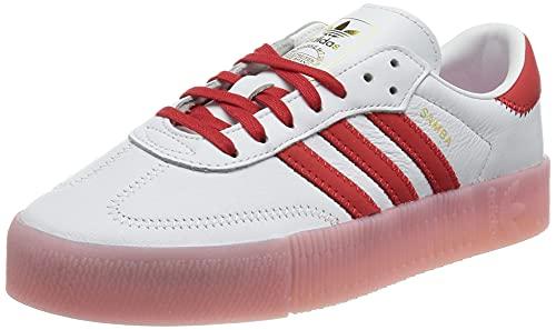 adidas SAMBAROSE W, Scarpe da Ginnastica Donna, Ftwr White/Vivid Red/True Pink, 36 2/3 EU