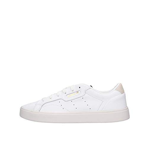 adidas Sleek W, Scarpe da Ginnastica Donna, Bianco Footwear White Footwear White Crystal White 0, 40 2/3 EU