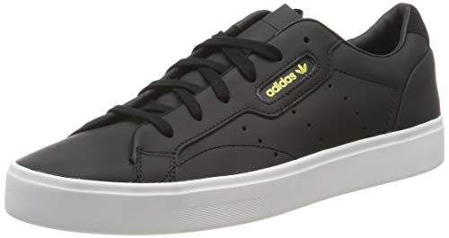 adidas Sleek W, Scarpe da Ginnastica Donna, Schwarz (Core Black/Core Black/Crystal White 0), 39 1/3 EU