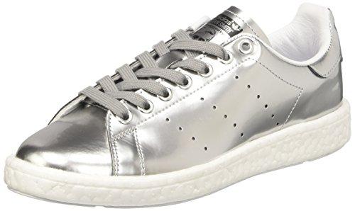 Adidas Stan Smith Boost, Sneaker a Collo Basso Donna, Argento (Silver Metallic/Footwear White), 38 2/3 EU