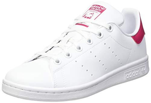 adidas Stan Smith J, Scarpe da Ginnastica, Ftwr White/Ftwr White/Bold Pink 22, 35.5 EU