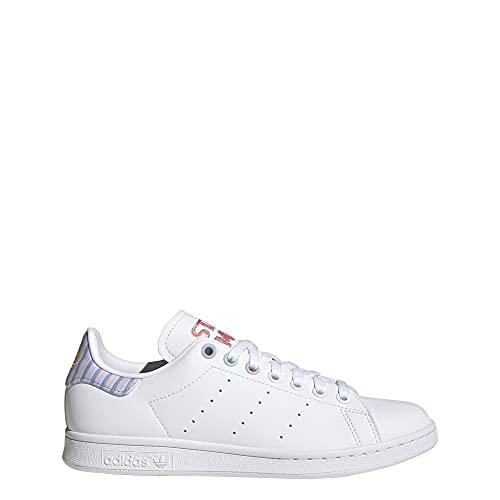 adidas Stan Smith W, Scarpe da Corsa Donna, Ftwr White Violet Tone Clear Pink, 38 2/3 EU
