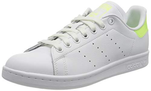 adidas Stan Smith W, Scarpe da Ginnastica Donna, Ftwr White/Hi-RES Yellow/Signal Green, 39 1/3 EU