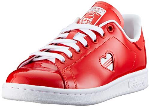 adidas Stan Smith W, Scarpe da Ginnastica Donna, Rosso (Active Red/Ftwr White/Active Red Active Red/Ftwr White/Active Red), 44 EU